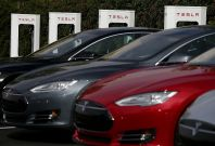 Tesla opens city superchargers