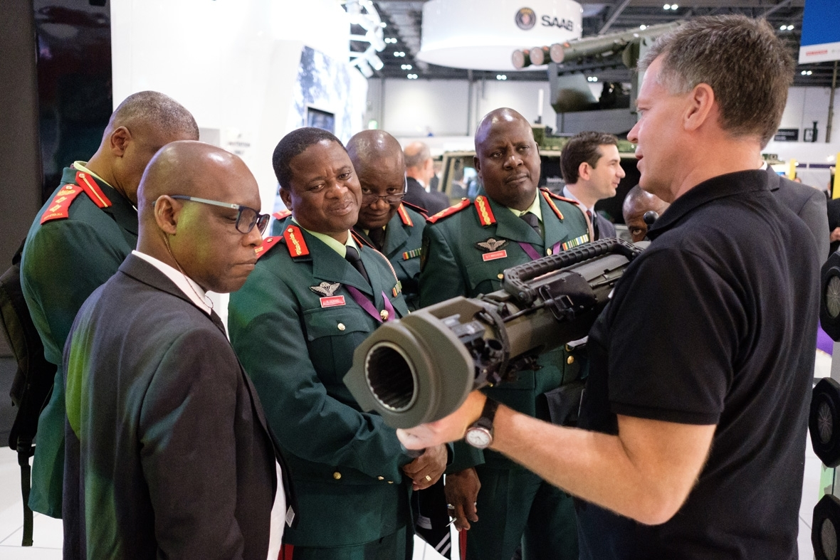 Arms fair London Defence Security Equipment international DSEi