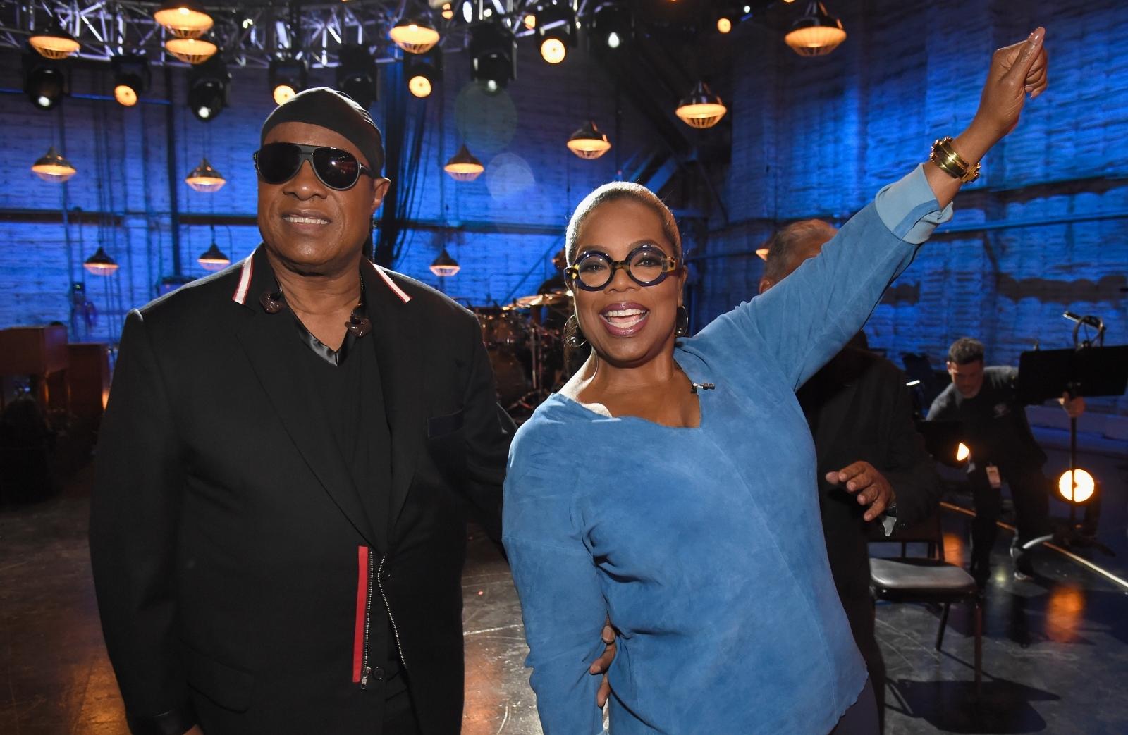 Stevie Wonder and Oprah Winfrey