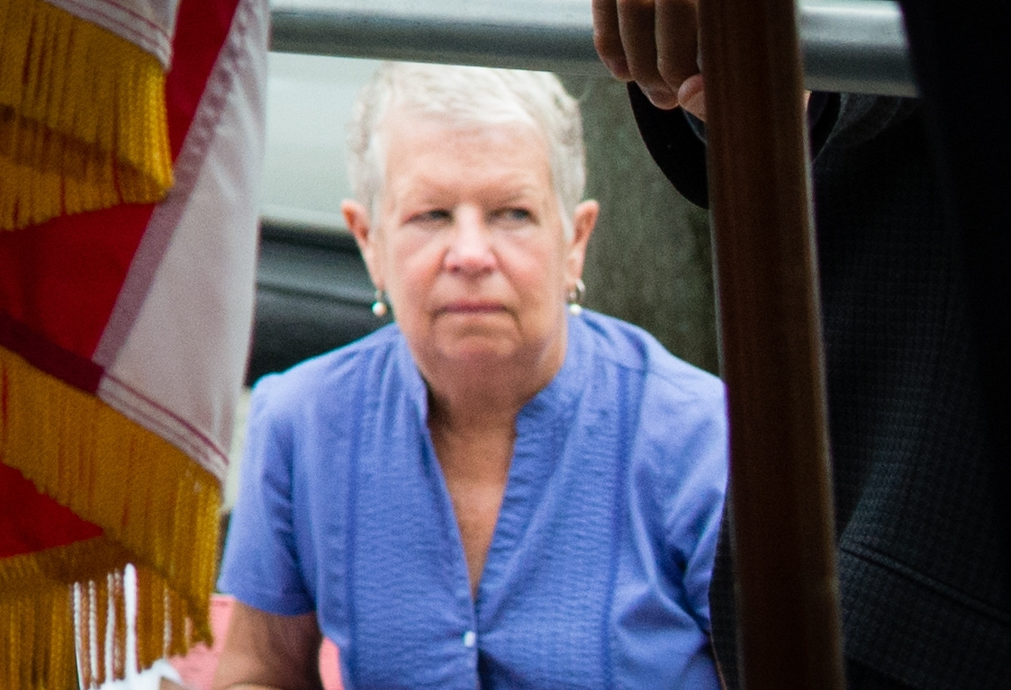 Mother Mary Lyon looks on during the press conference in 2015 where police said that Lloyd Lee Welch, Jr., had been indicted for the murder of her daughters Katherine and Shelia Lyon