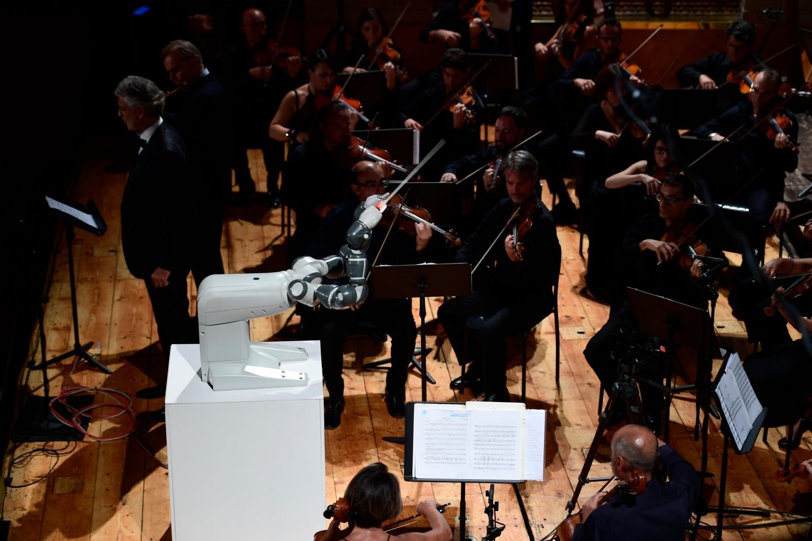 Robot orchestra conductor YuMi