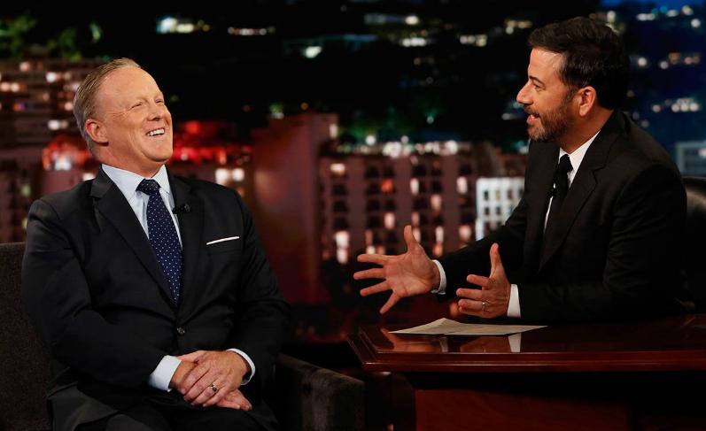 Sean Spicer, Jimmy Kimmel
