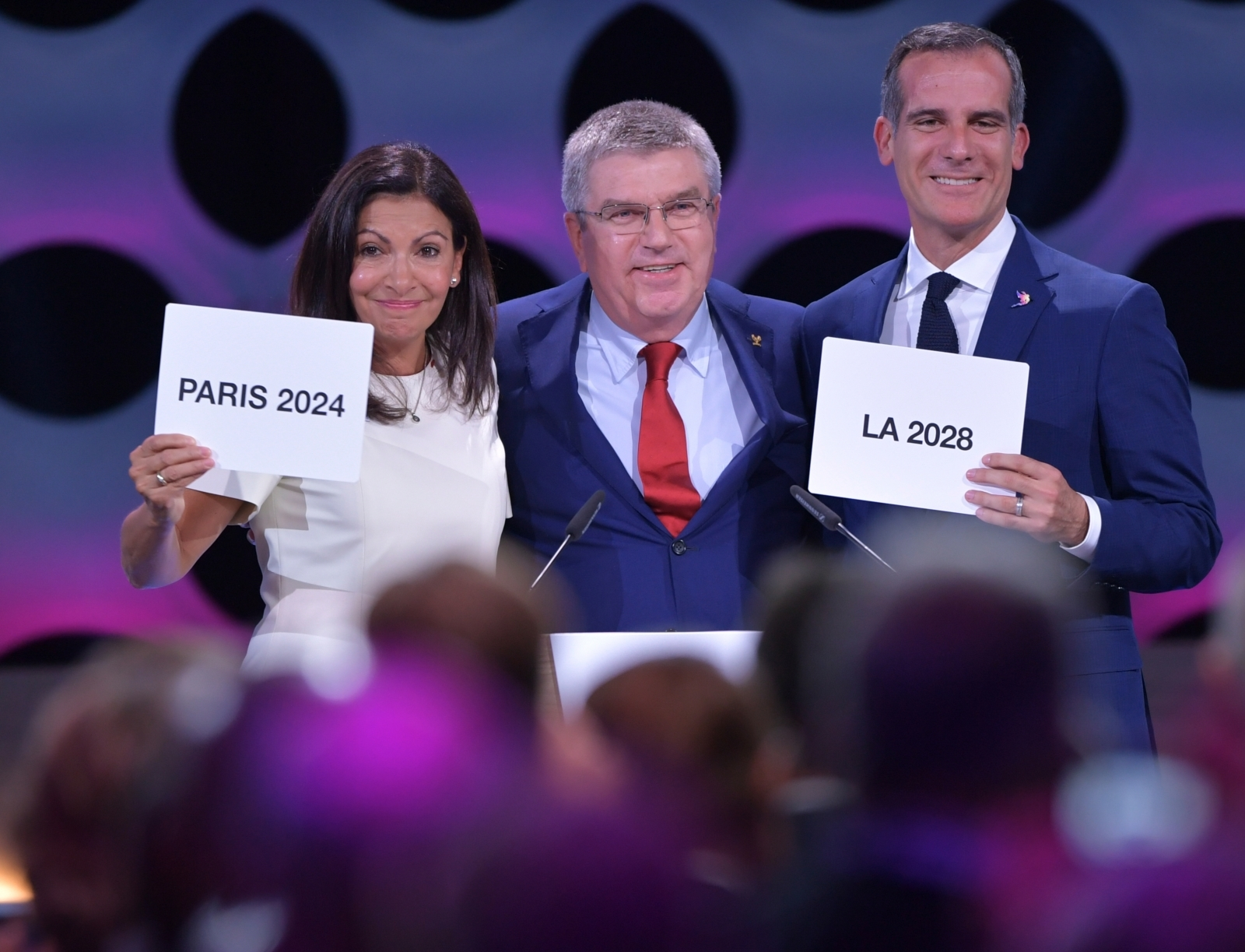 Paris and Los Angeles will host 2014 and 2018 summer Olympics