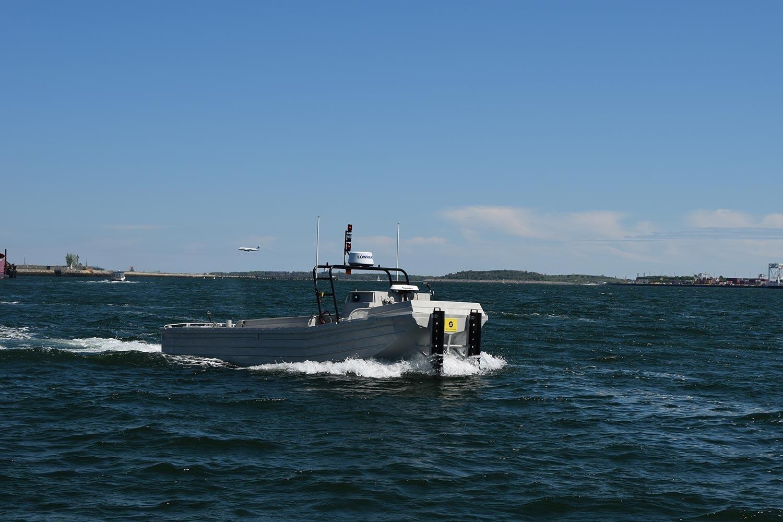 Unmanned Sea Machines autonomous boat