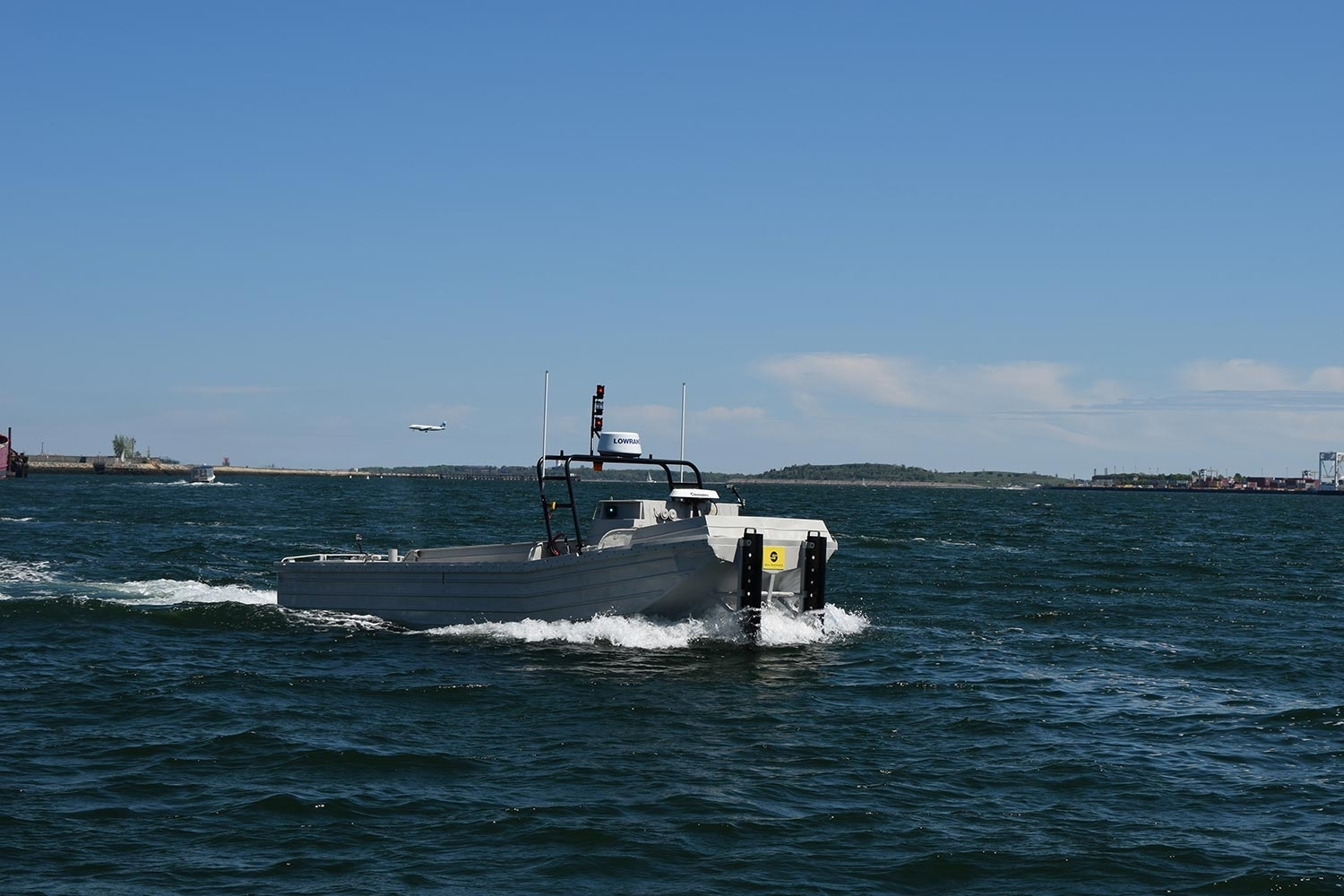 Unmanned Sea Machines autonomous boat