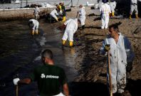 Athens oil spill