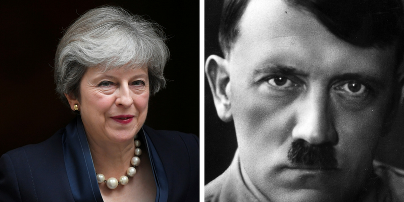 Theresa May Adolf Hitler