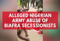 Shocking video allegedly shows Nigerian army abusing suspected IPOB members