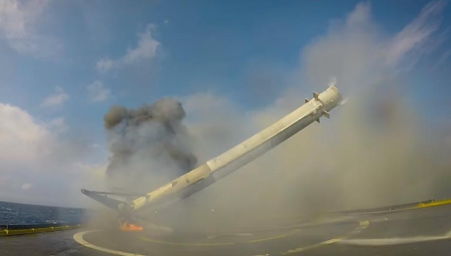 SpaceX landing rocket failure