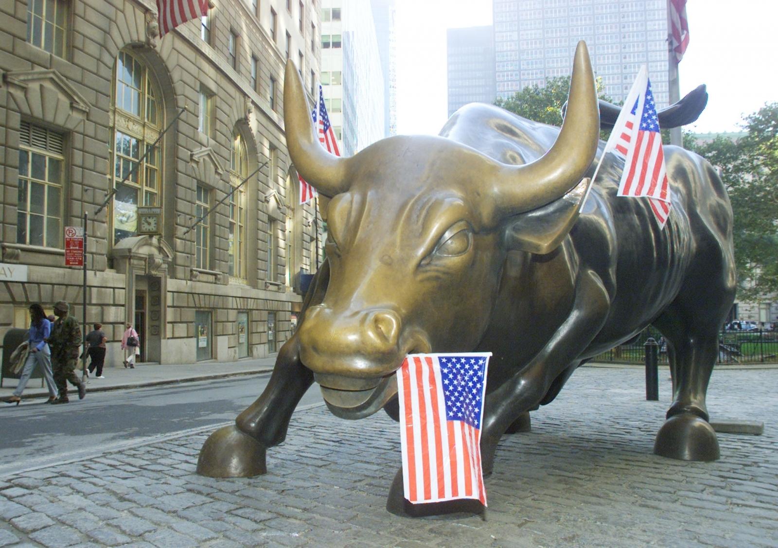 Charging Bull statue