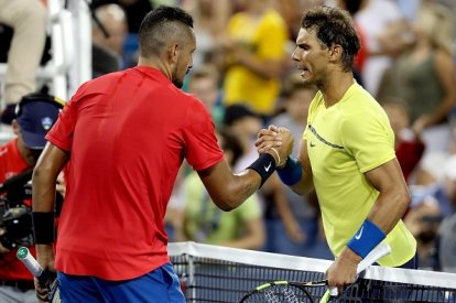 Nick Kyrgios and Rafael Nadal