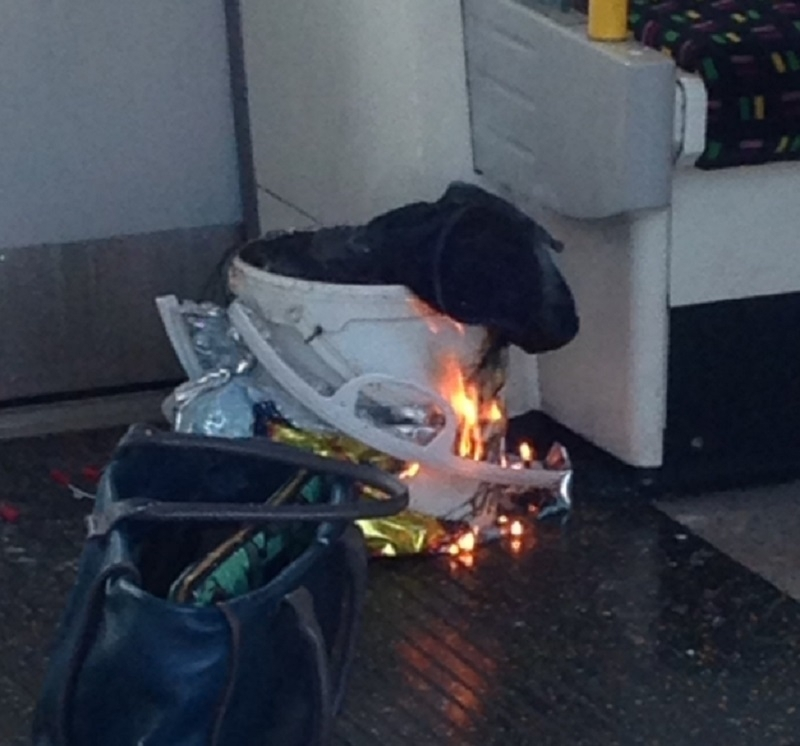 Parsons Green bag explosion Tube