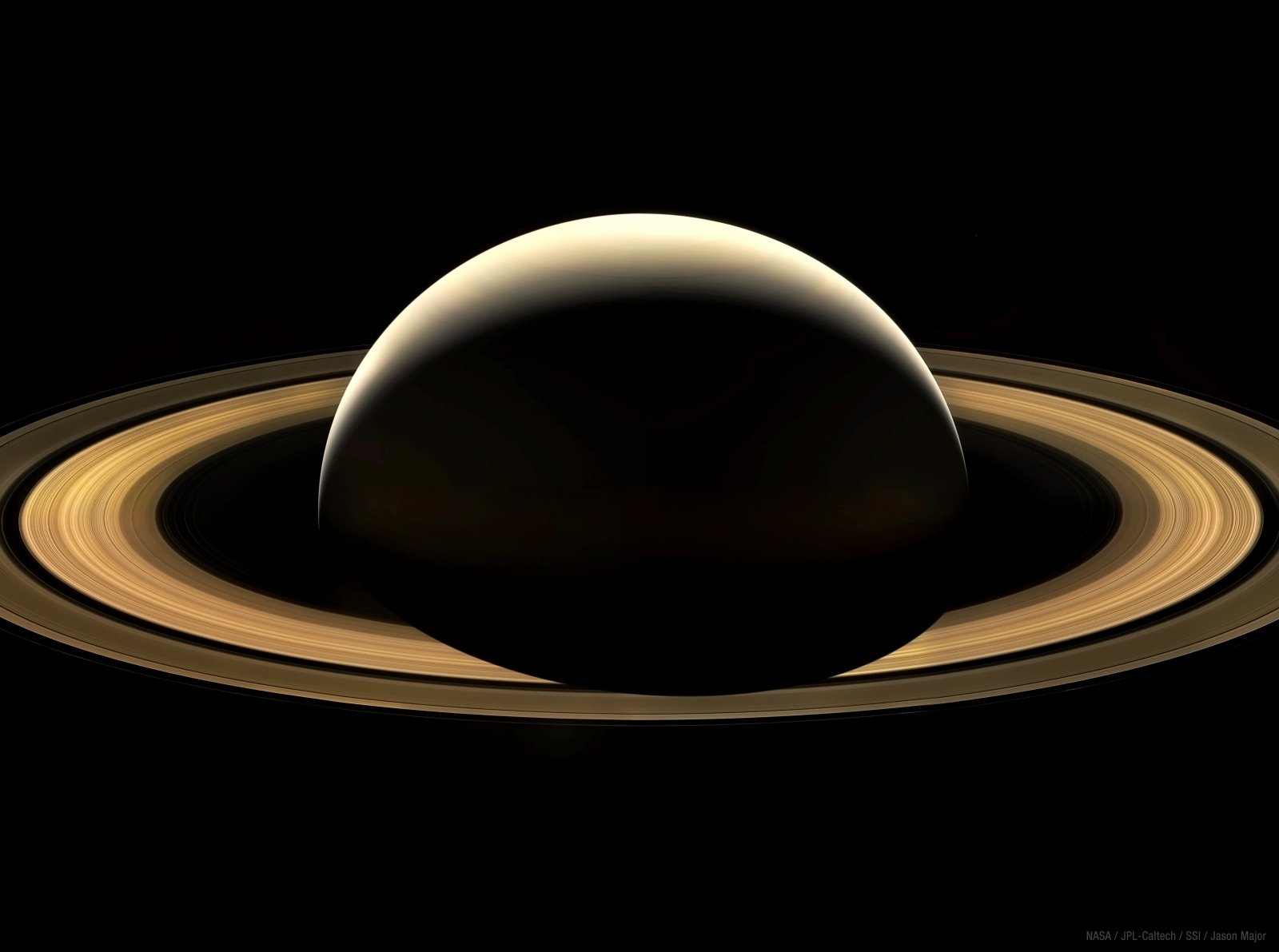 Cassinis Final Mosaic of Saturn