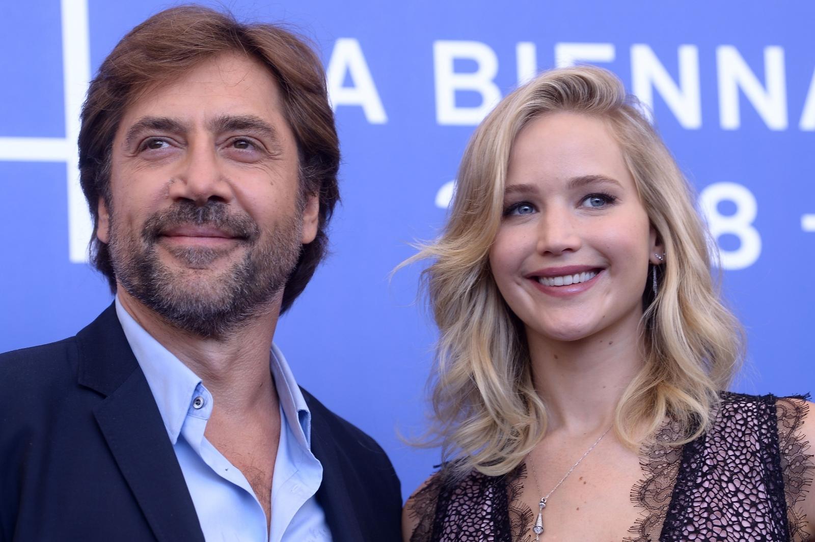Javier Bardem and Jennifer Lawrence