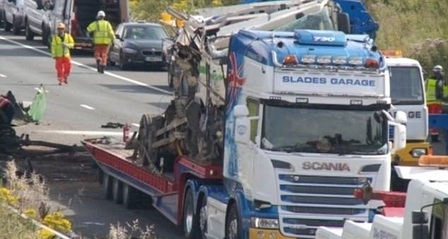 At least four people killed in M5 lorry crash
