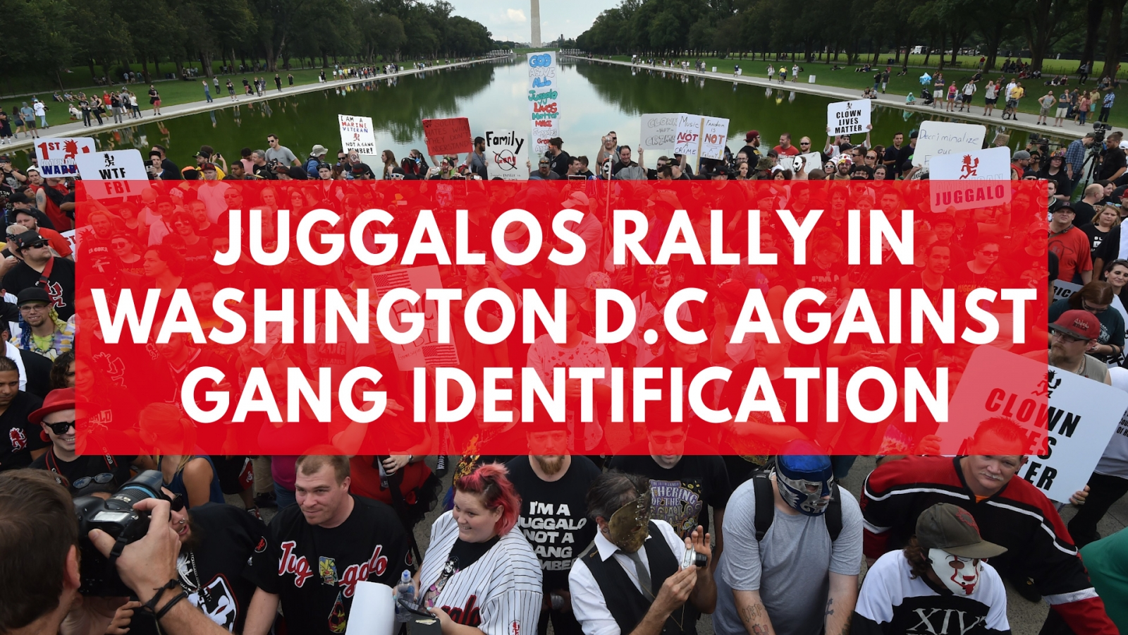 Juggalos rally in Washington DC against gang identification