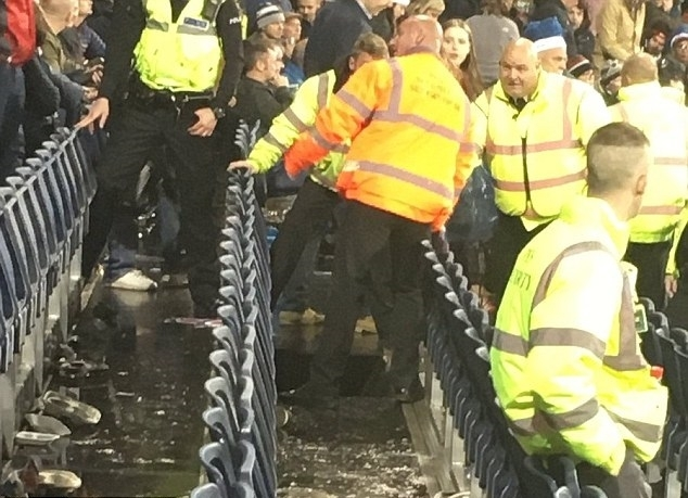 Seating collapses at England cricket match