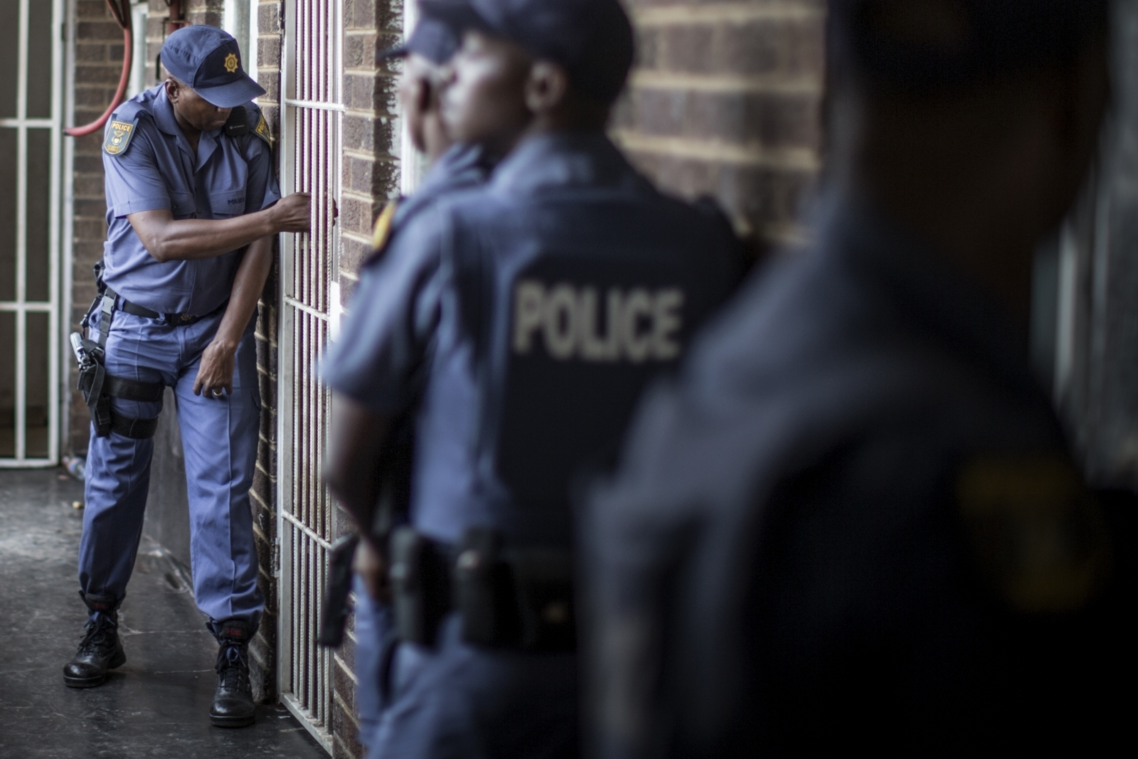 South African police