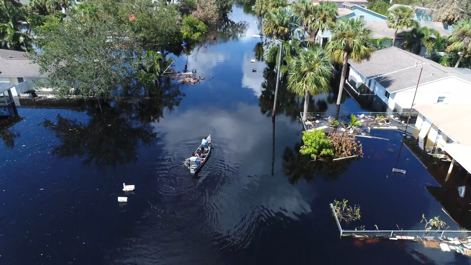 Drone footage highlights the scale of flooding in Florida