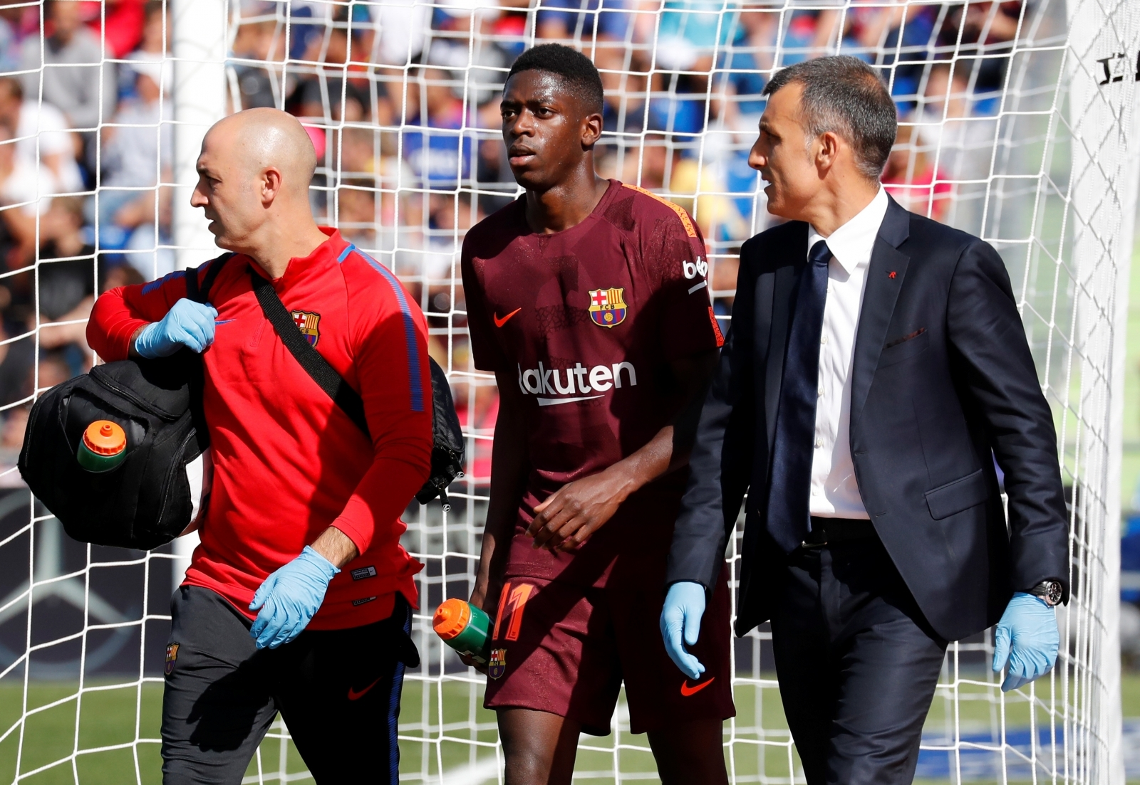 Barcelona's Ousame Dembele undergoes leg surgery, will miss over three months