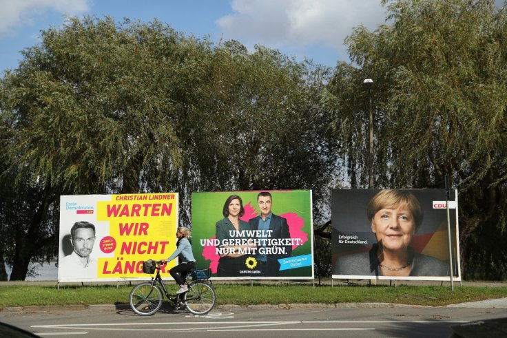 Jamaica coalition Germany election posters