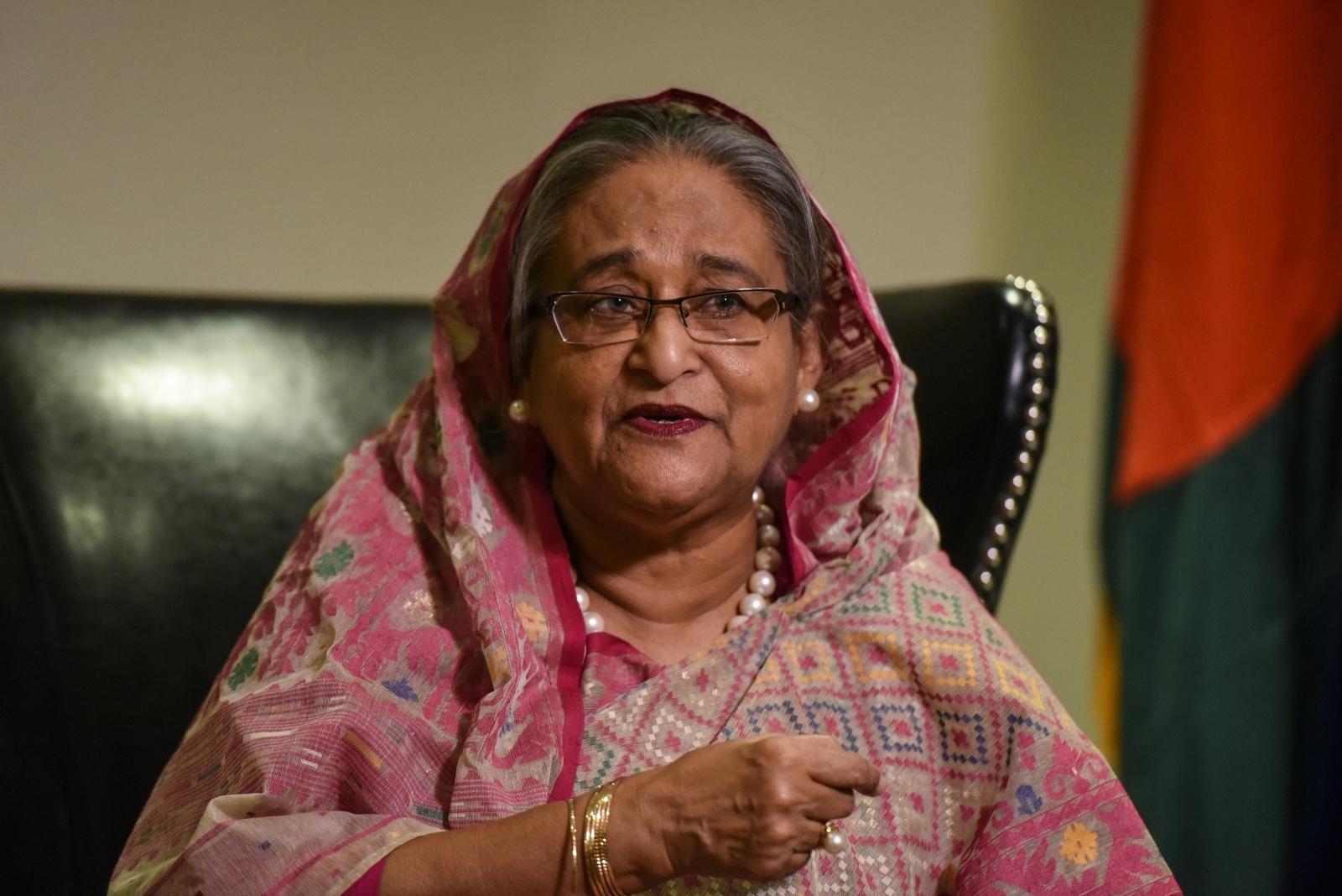 Bangladesh's Prime Minister Sheikh Hasina Wazed
