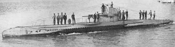 WWI UB-45 submarine