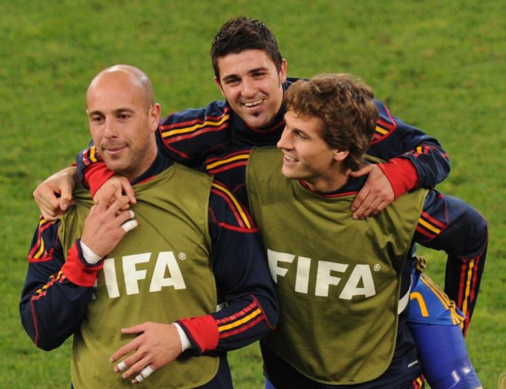 Pepe Reina, David Villa and Fernando Llorente