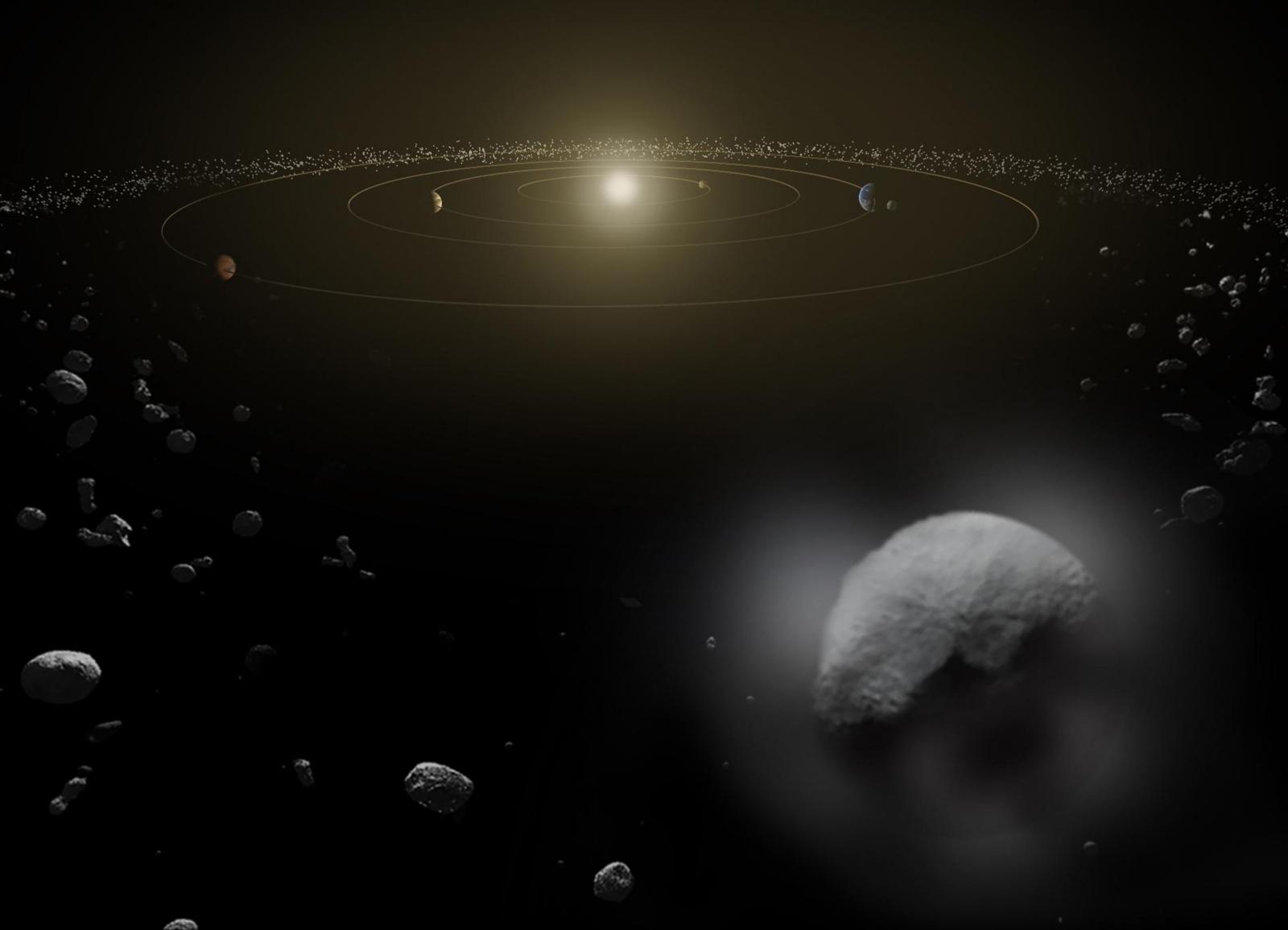 Nano-spacecraft asteroid