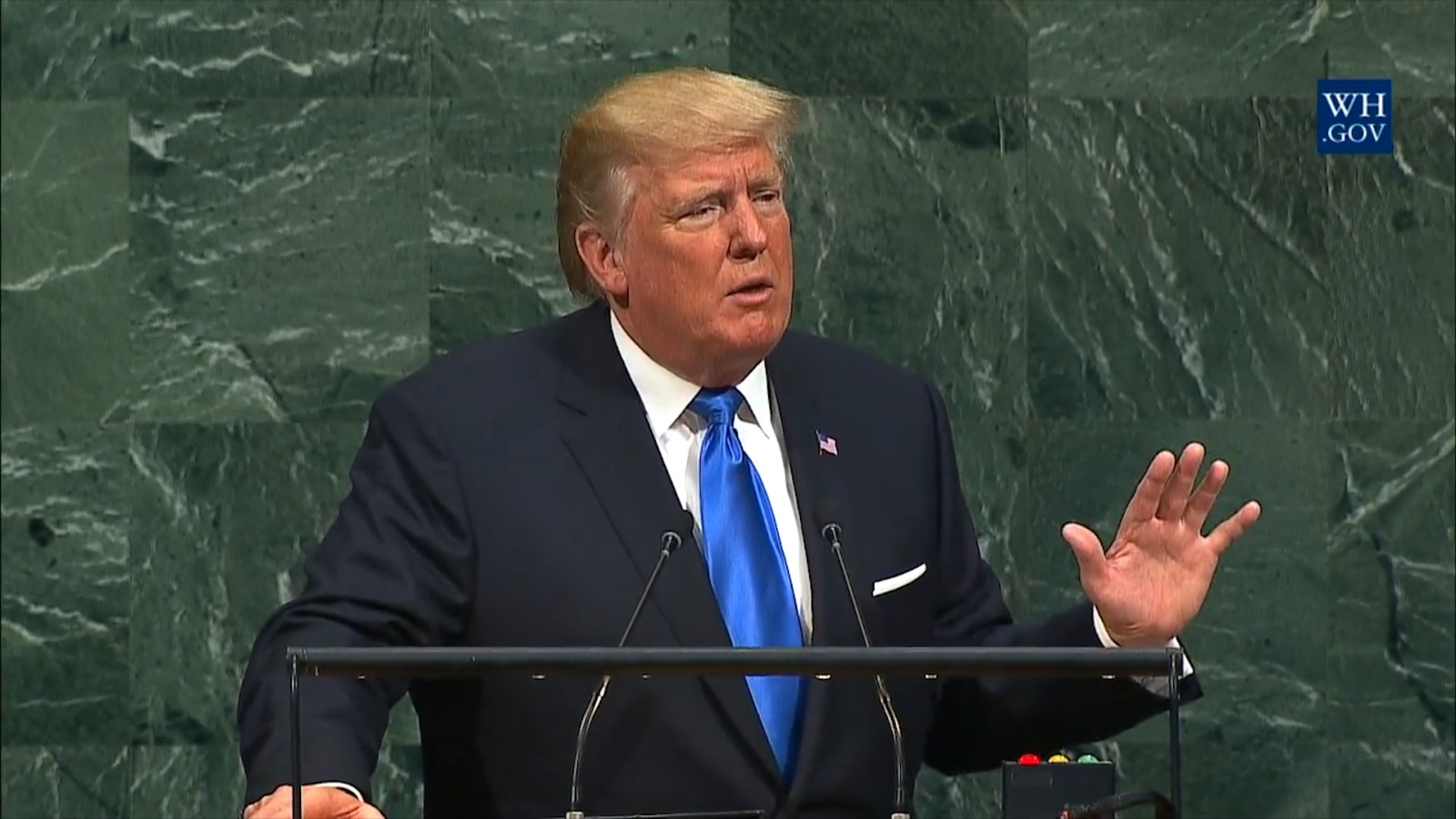 Donald Trump slams 'rogue regimes' during his maiden UN speech