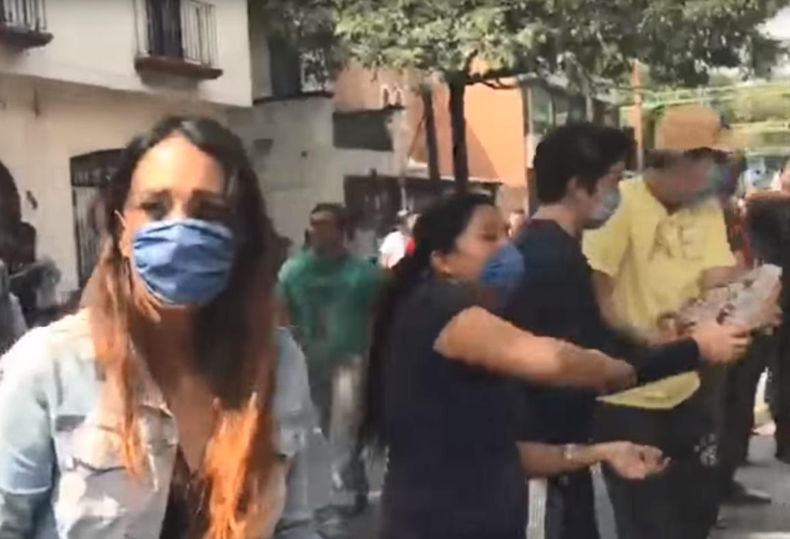 Mexico human chain