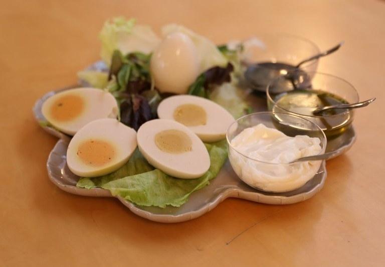 Vegan hard-boiled egg