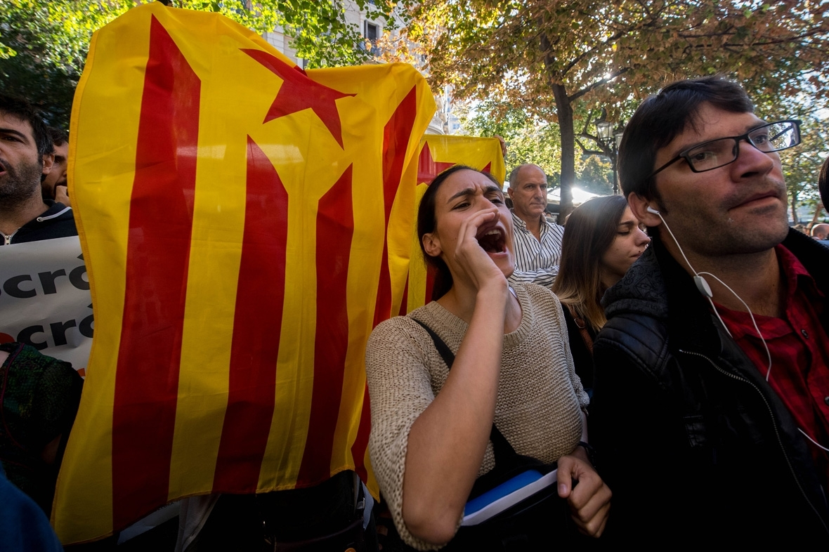 Catalonia independence protests Barcelona