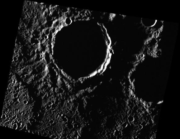 Ice in Mercury craters
