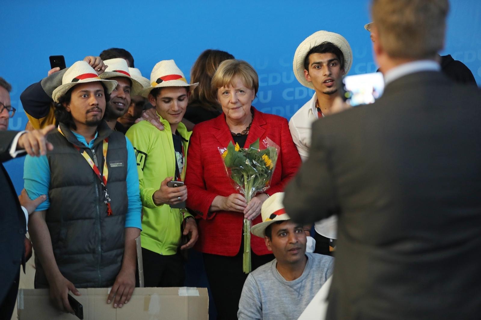 Angela Merkel and Syrian refugees