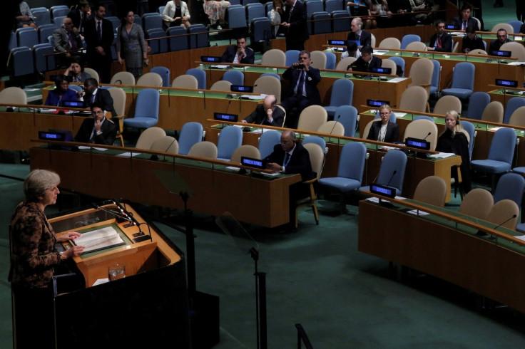 Theresa May at UN