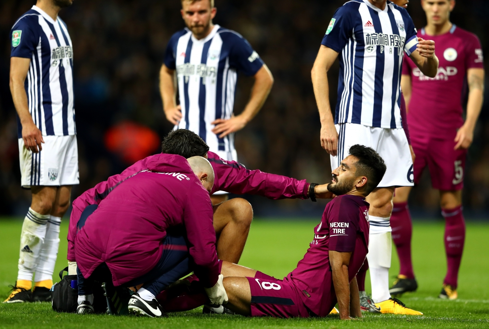 Leroy Sané gives Manchester City early lead at West Brom