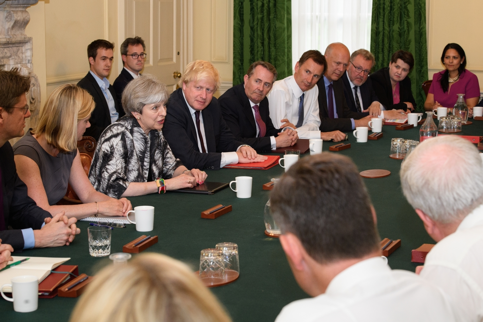 Theresa May and the cabinet