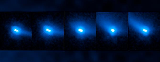 Twin asteroid cum comet