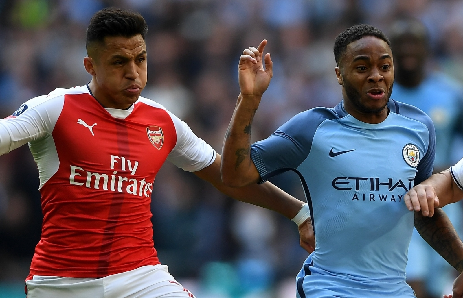 Raheem Sterling and Alexis Sanchez