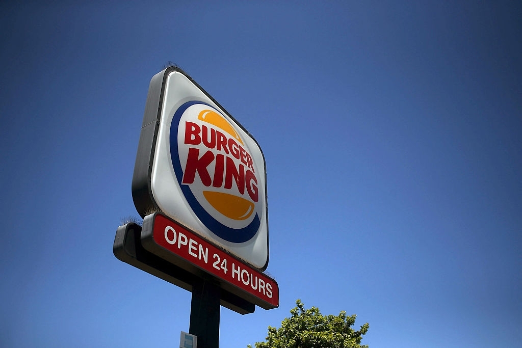 Burger King logo sign