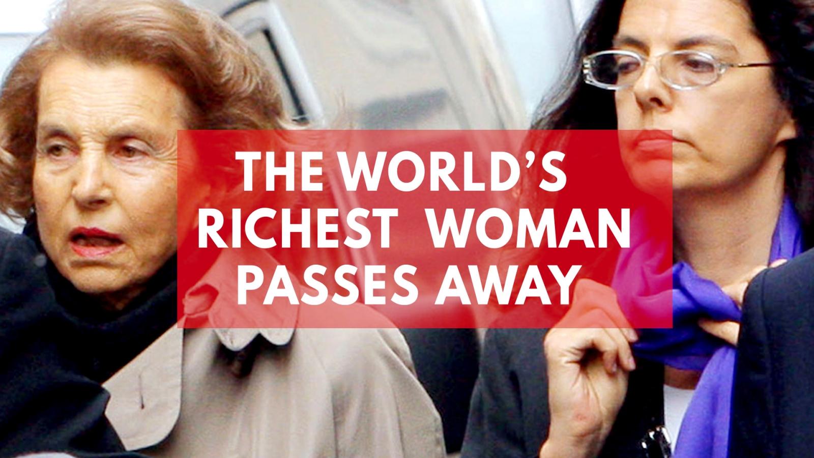 Liliane Bettencourt dies: The world's richest woman passes away