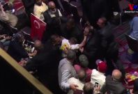 Anti-Erodgan Protesters Punched As They're Escorted Out Of New York Event