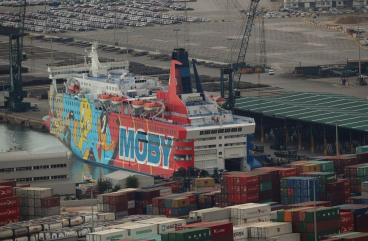 The Moby Dada holiday liner arrives in the port of Barcelona, Spain, September 21, 2017