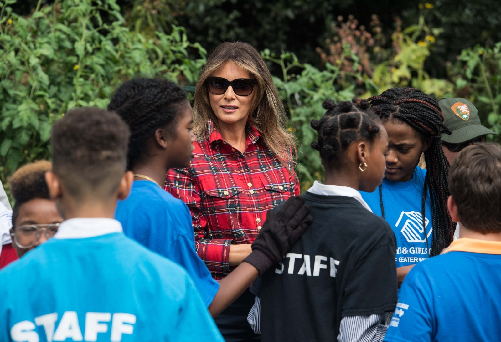 Melania Trump encourages United States athletes at games