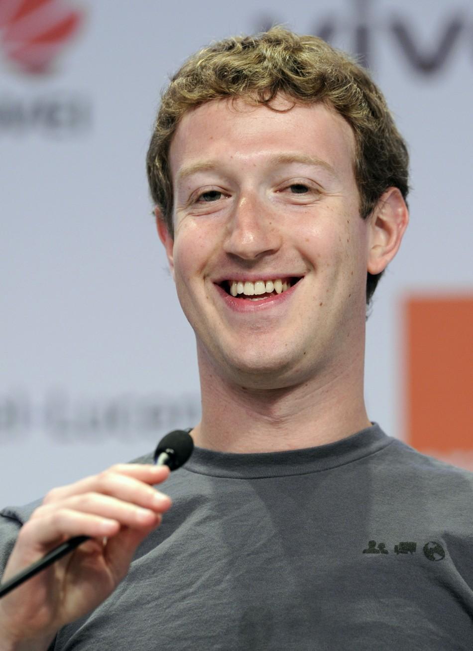 Founder And CEO Of Facebook Mark Zuckerberg