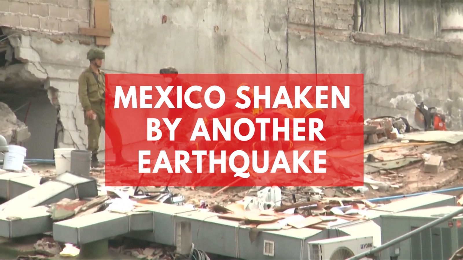 Mexico shaken by another earthquake