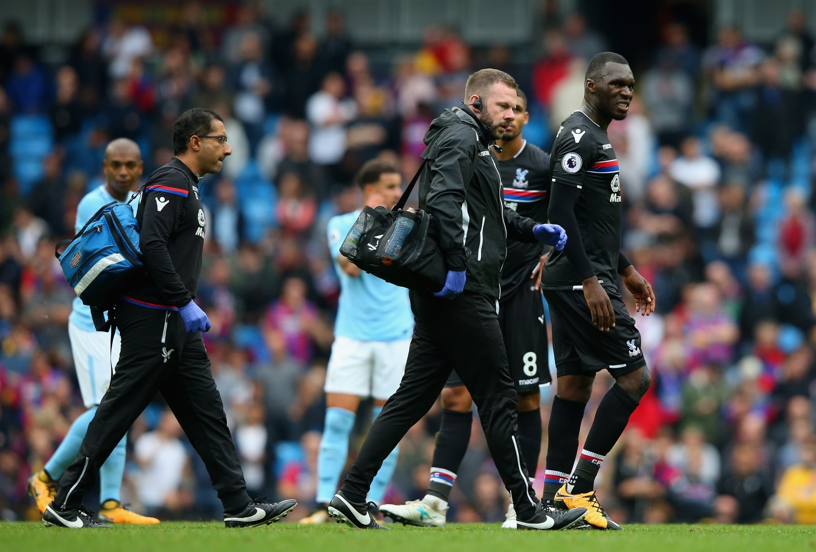 Manchester City beat visiting Crystal Palace at the Etihad Stadium