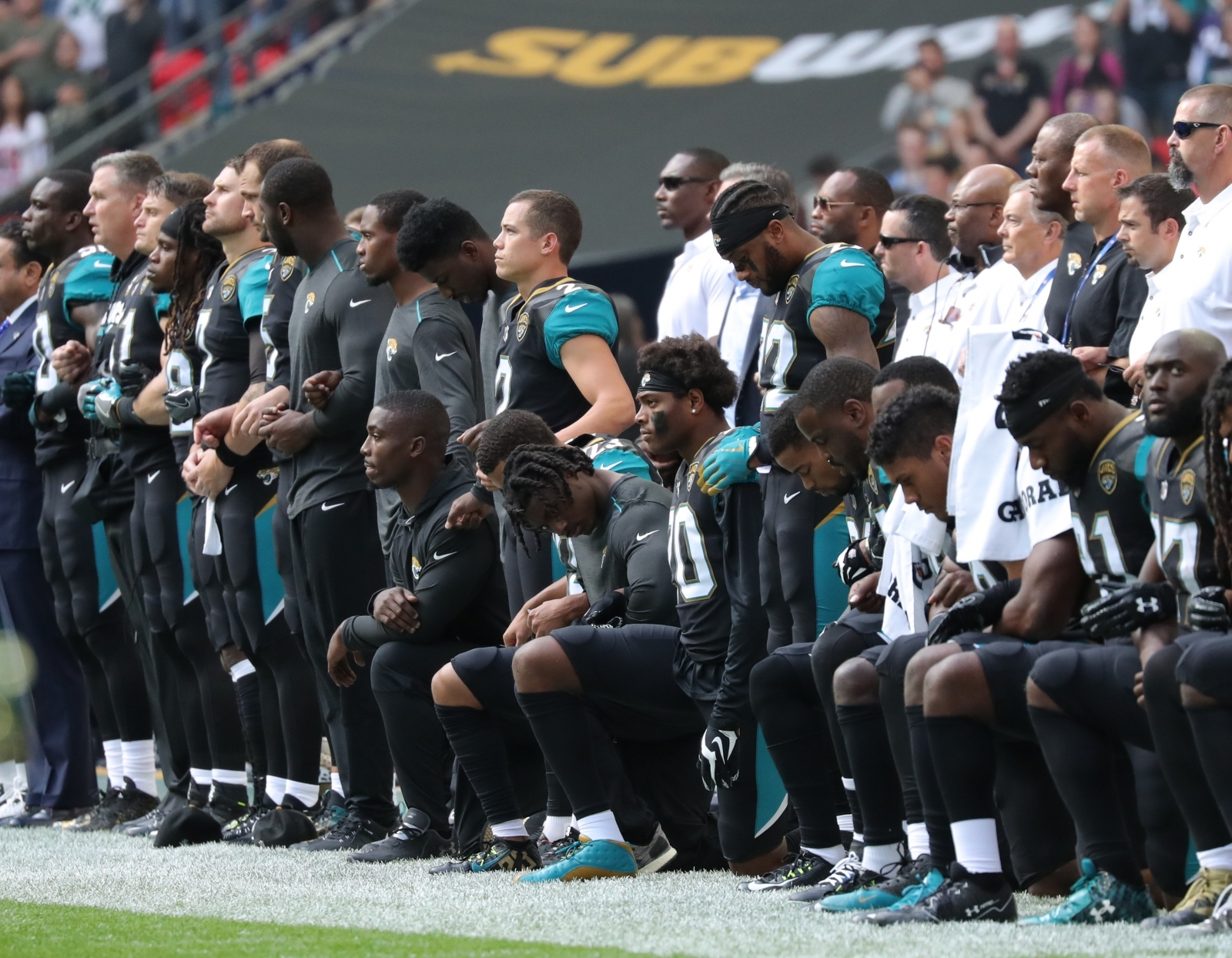 Jacksonville Jaguars NFL Take a Knee