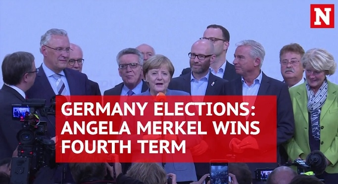 German Chancellor Angela Merkel re-elected for fourth term in office
